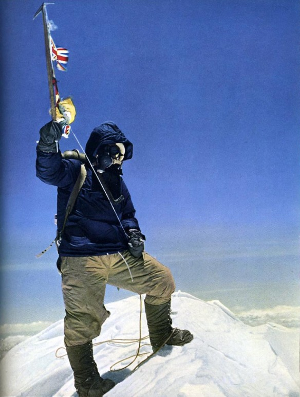 Tenzing on the summit of Mount Everest